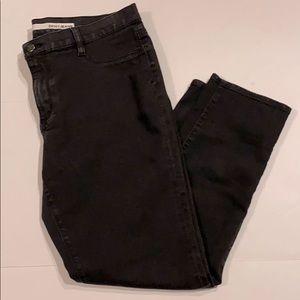 DKNY SZ 14 Petite Black Denim Leggings Pants D2